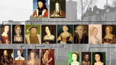 Part of the Tudor dynasty family tree