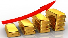 Illustration of something gaining in value. Gold is used as example.