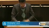 Christopher Lauer speaks in Berlin State Parliament