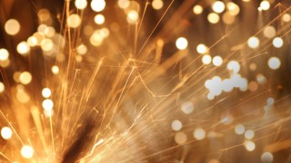 Sparkles, fireworks and party