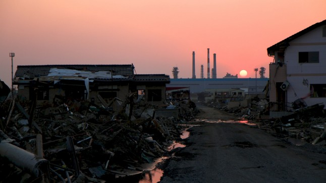 Aftermath of Japanese tsunami. Photo by Roger Walch.
