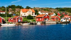 Idyllic seaside scene typical of Sweden's archipelago