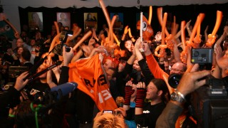 Piratenpartei cheering on election night in Dsseldorf