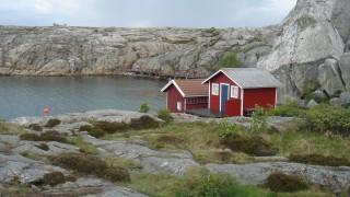 Idyllic scene from Smögen, Bohuslän, Sweden