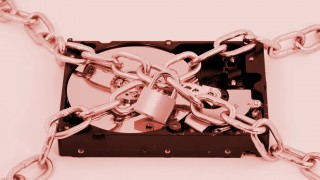 Hard drive under chains and lock