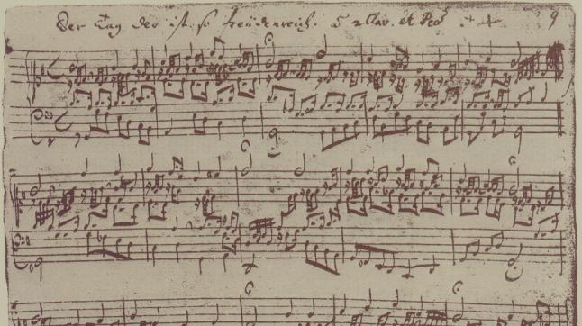 J.S. Bach, BWV 605, Der Tag, der ist so freudenreich. (score)