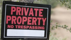 Private Property sign on a tree