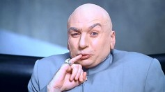 Dr. Evil doing that thing he does with his pinky finger