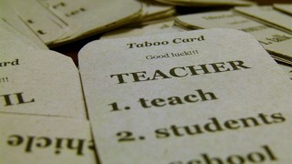 Taboo game cards - CC photo by Flickr user Geekyteacher