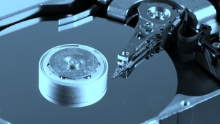 Macro photo - Hard Disk Drive. Great details !