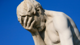 Statue of facepalm. Photo by Alex E Proimos.