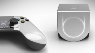 An Ouya console and controller