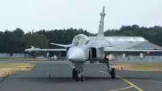 JAS 39 Gripen. Photo by Liftarn (Wikimedia Commons).