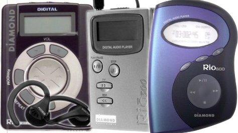 Diamond Rio 300, 500 och 600 -- de tre första generationerna MP3-spelare