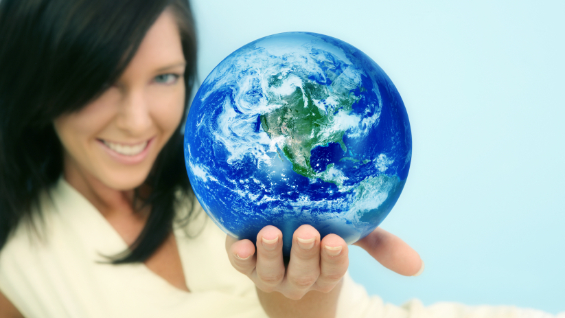 Image of world in hand