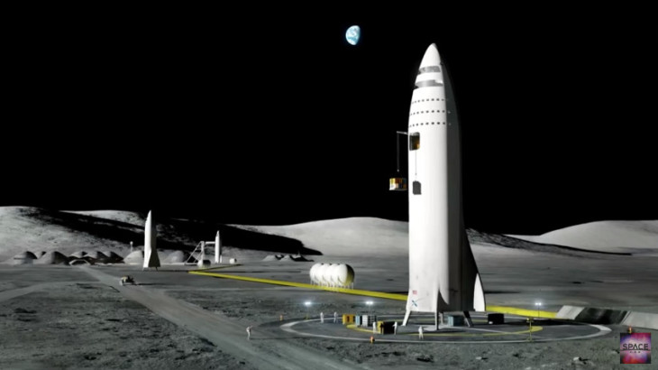Image from SpaceX' imaged lunar base
