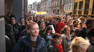 Photo of a protest (in Copenhagen, Denmark).