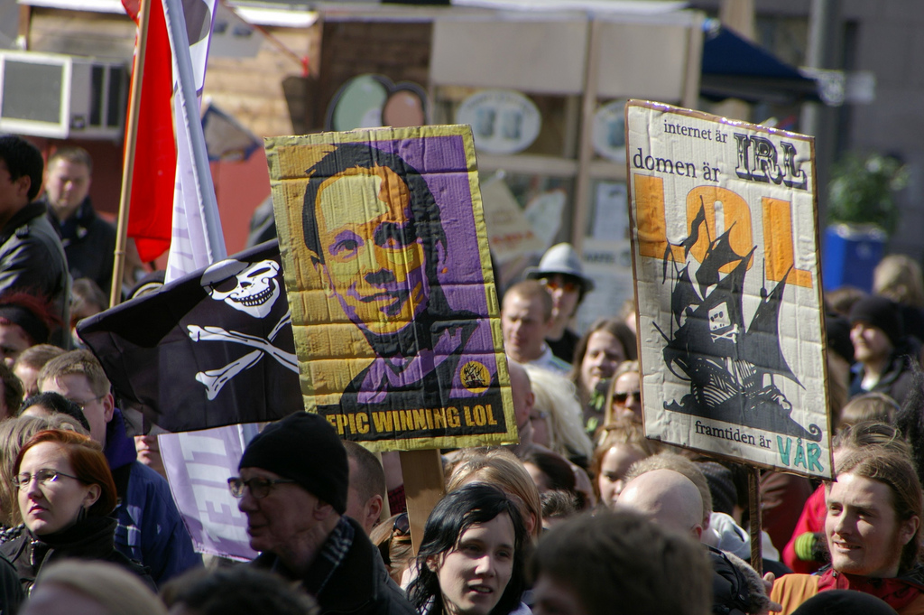 Pirate Party protest, by kenny_lex@Flickr