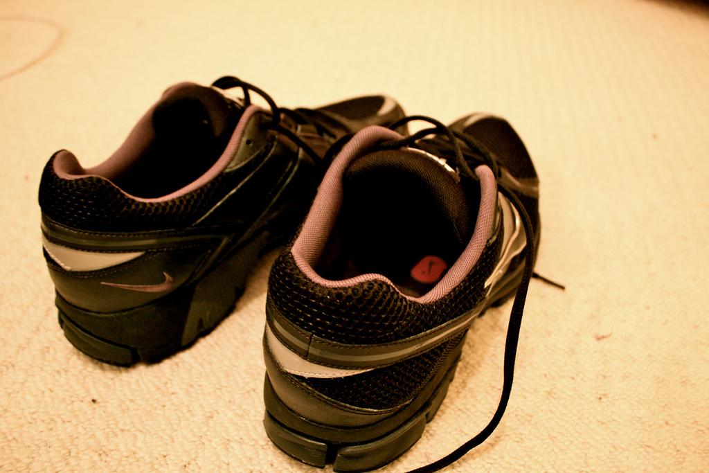 A pair of Nike shoes. Photo by Ben Dodson (bendodson) at Flickr, CC-BY-NC.